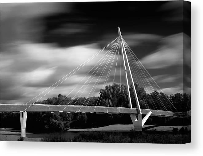 Landscape Canvas Print featuring the photograph Pedestrian Bridge by Bernd Markgraf