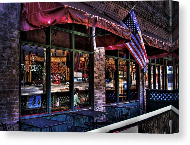 Pioneer Square Canvas Print featuring the photograph Pioneer Square Tavern by David Patterson