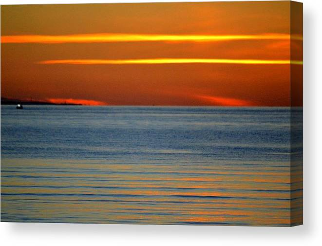 Summer Canvas Print featuring the photograph Pirita Sunset by Ants Vahter