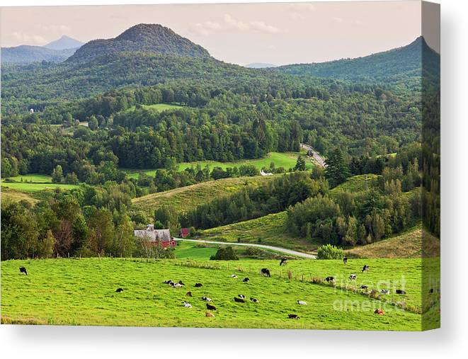 Summer Canvas Print featuring the photograph Pleasant Valley Countryside by Alan L Graham