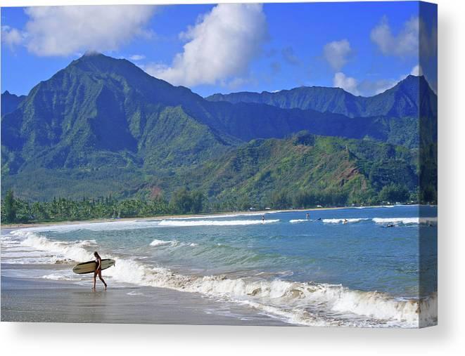 Surfer Canvas Print featuring the photograph Point Break by Scott Mahon