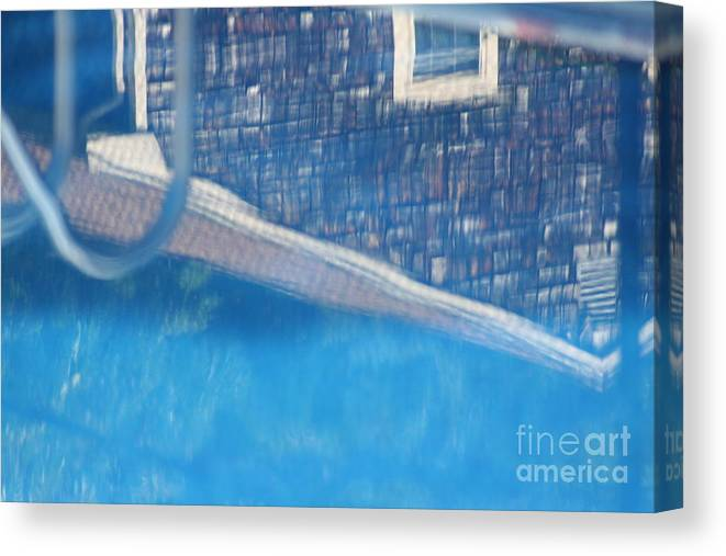 Pool Canvas Print featuring the photograph Poolhouse by Amy Holmes