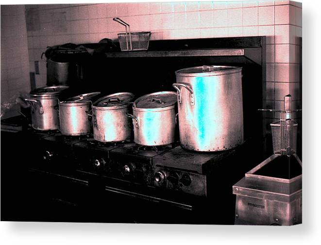 Interiors Canvas Print featuring the photograph Pots by Michael Morrison