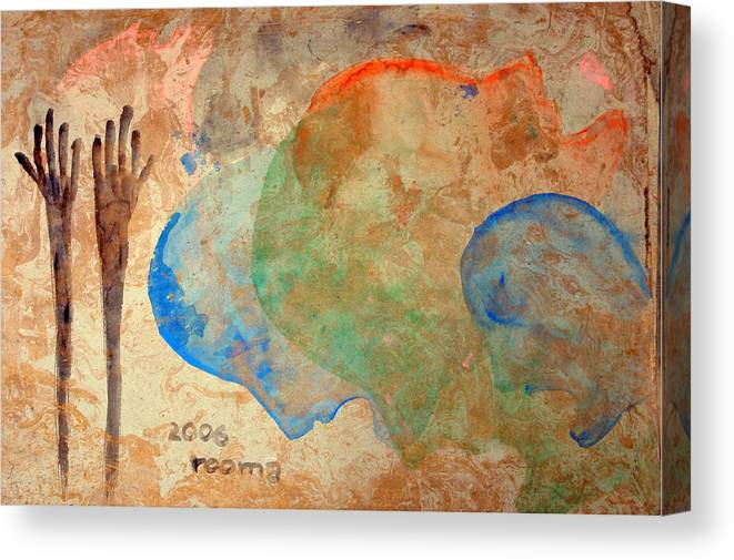 Painting Canvas Print featuring the painting Prayer by Rooma Mehra