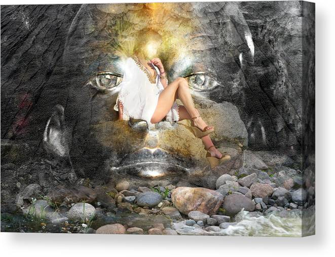 Female Canvas Print featuring the photograph Psyche-2 by Ed Hall