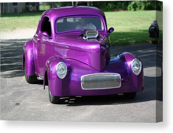 Canvas Print featuring the photograph Purple Rod by Jim Simms