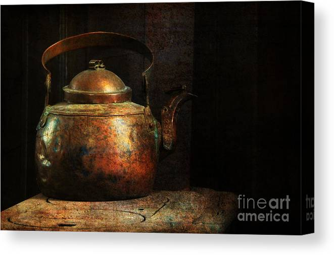 Kitchen Canvas Print featuring the photograph Put The Kettle On by Lois Bryan