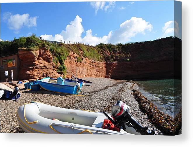 England Canvas Print featuring the photograph Quiet Cove by Andrea Everhard