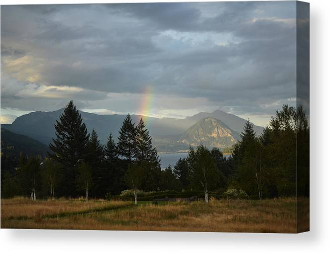 Rainbow Canvas Print featuring the photograph Rainbow Fade by Mary Chant