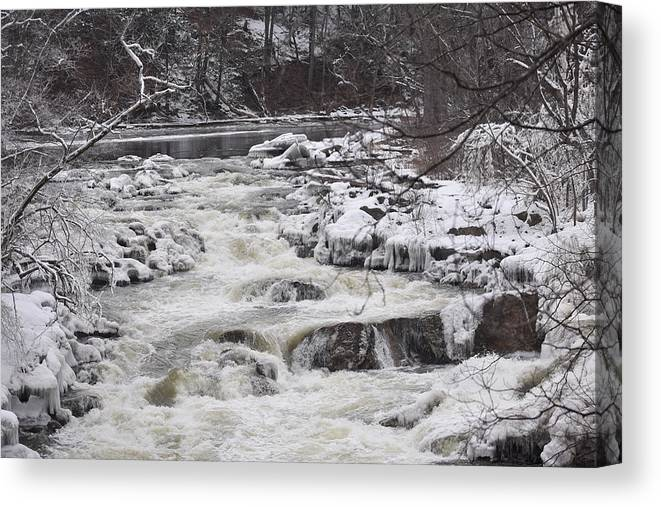 Bulls Canvas Print featuring the photograph Rapids At Bull's Bridge 1 by Nina Kindred