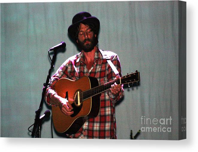 Ray Lamontagne Canvas Print featuring the photograph Ray Lamontagne-9040 by Gary Gingrich Galleries