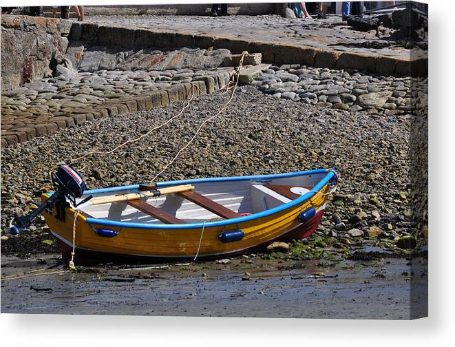 Boats Canvas Print featuring the photograph Ready To Row by Andrea Everhard