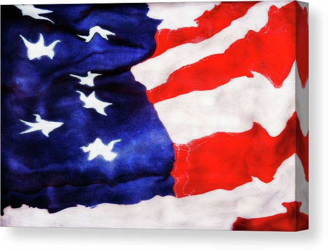 Paul Tokarski Canvas Print featuring the photograph Red White Blue by Paul Tokarski