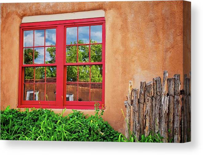 Reflecting Canvas Print featuring the photograph Reflecting Santa Fe by Flying Z Photography by Zayne Diamond