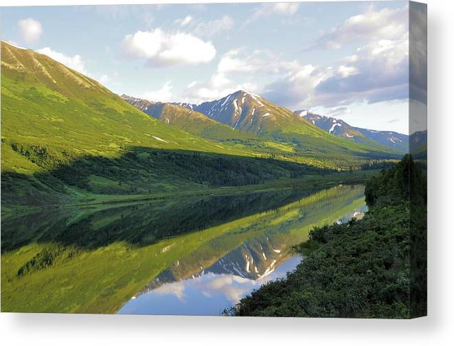 Canvas Print featuring the photograph Reflection by Tahomawind Photography