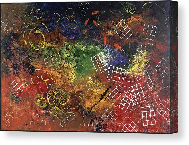 Abstract Canvas Print featuring the painting Reunion by Dominique Boutaud