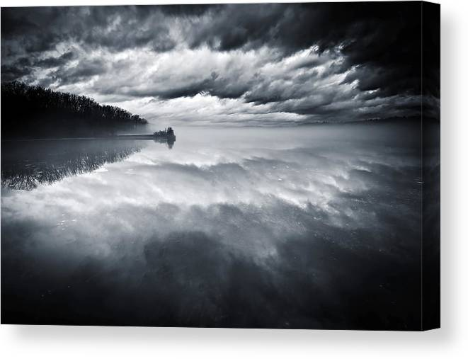 Cloudscape Canvas Print featuring the photograph River Of Dreams by Neil Shapiro