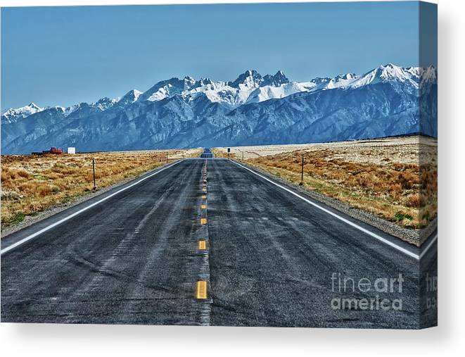 Highway Canvas Print featuring the photograph Road To Mountains by Hideaki Sakurai