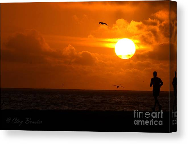 Clay Canvas Print featuring the photograph Running By Dusk by Clayton Bruster