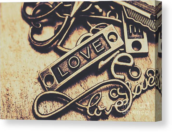 Rustic Canvas Print featuring the photograph Rustic Love Icons by Jorgo Photography - Wall Art Gallery