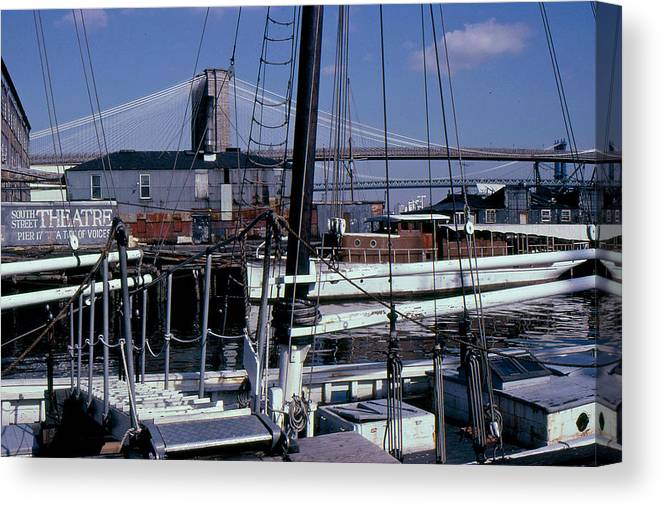 New York Canvas Print featuring the photograph S. Street Seaport by David Pettit