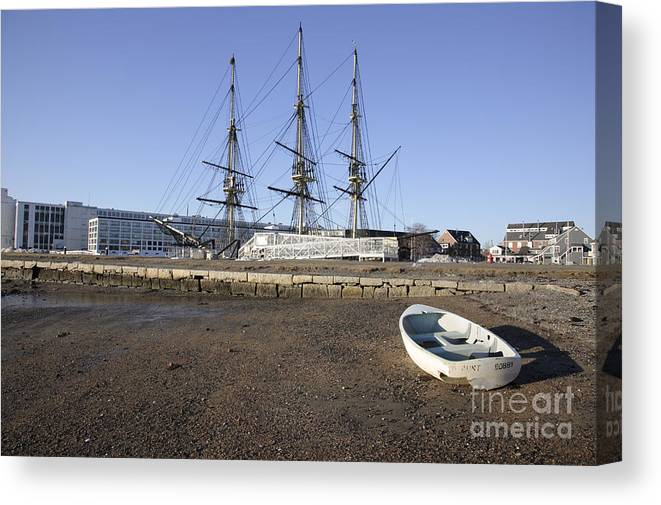 Salem Canvas Print featuring the photograph Salem Maritime National Historic Site In Salem Massachusetts Usa by Erin Paul Donovan