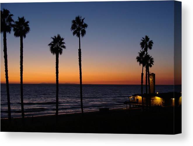 Landscape Canvas Print featuring the photograph San Clemente Sunset by Ty Nichols
