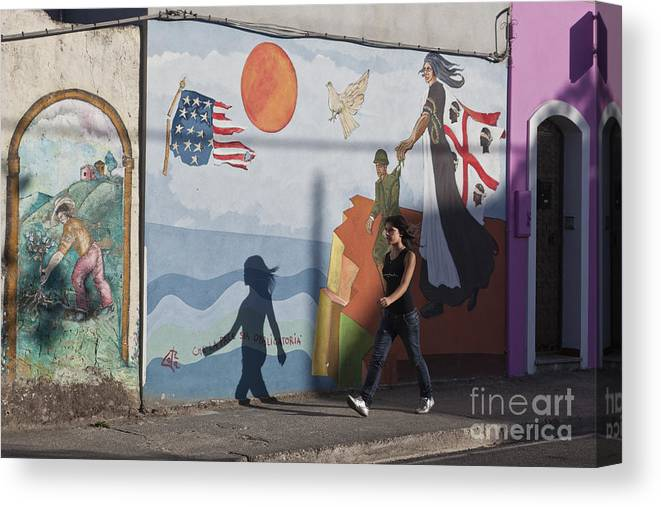 Europa Canvas Print featuring the photograph Sardinia Wall Painting by Juergen Held