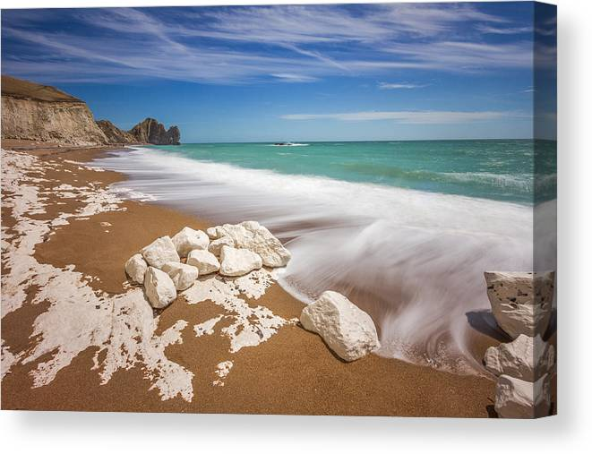 Landscape Canvas Print featuring the photograph Sea In Motion by Rich Wiltshire