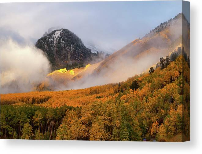 Colorado Canvas Print featuring the photograph Siever's Mountain by Steve Stuller