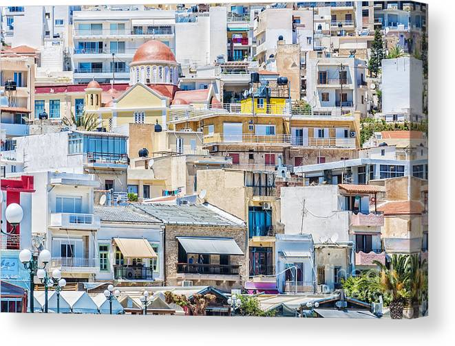Sitia Canvas Print featuring the photograph Sitia Town by Antony McAulay