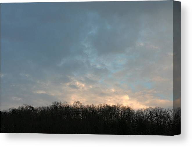 Nightfall Canvas Print featuring the photograph Sky At Dusk by George Ferrell