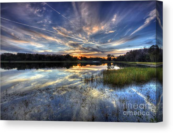 Nature Canvas Print featuring the photograph Sky Painting by Rick Mann