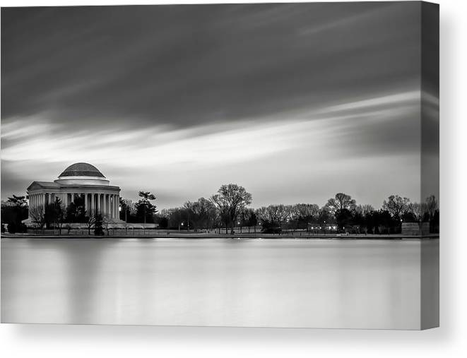 Black And White Canvas Print featuring the photograph Sleeping Giant by Edward Kreis