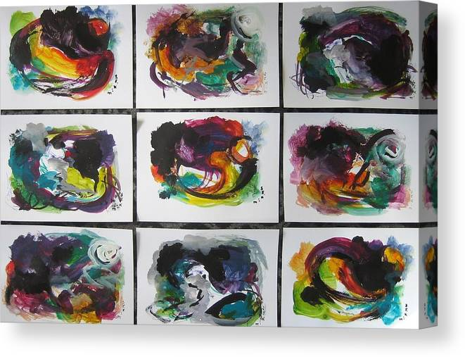 Abstract Paintings Canvas Print featuring the painting Small Landscape4 by Seon-Jeong Kim