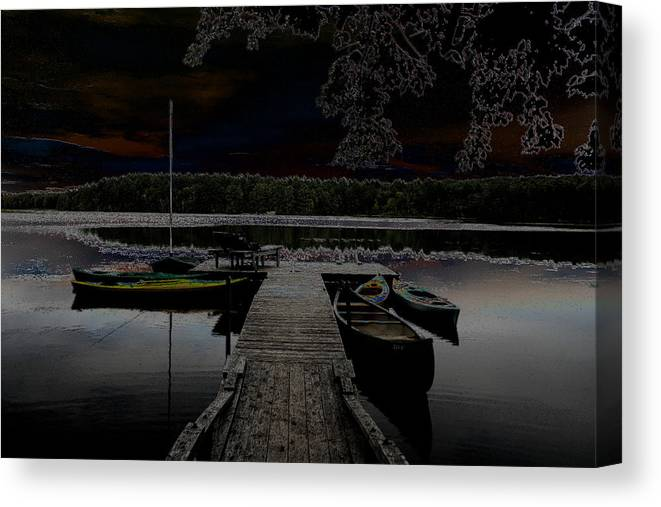 Nature Canvas Print featuring the photograph Solar Lake by Dennis Curry