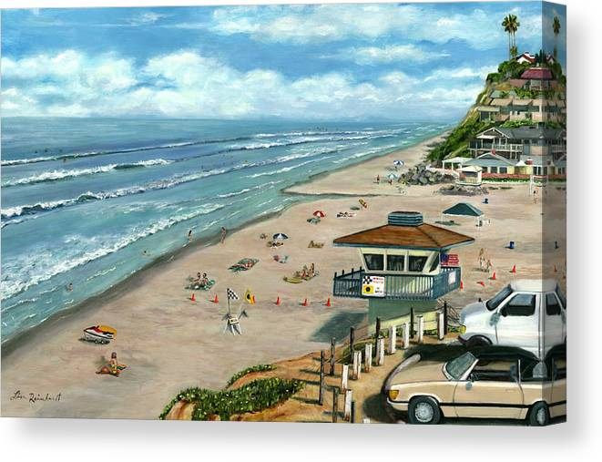 South On Moonlight Canvas Print featuring the painting South On Moonlight by Lisa Reinhardt