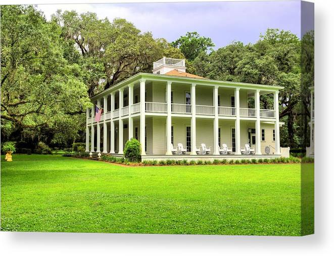 Wesley House State Park Canvas Print featuring the photograph Southern Graces by JC Findley