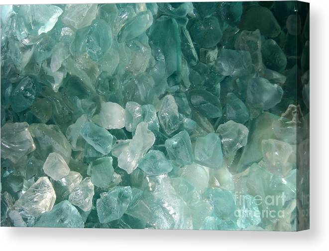Sea Glass Teal White Ocean Canvas Print featuring the photograph Splash by Kristine Nora