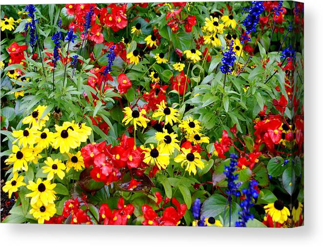 Floral Canvas Print featuring the photograph Spring Bouquet by Sonja Anderson