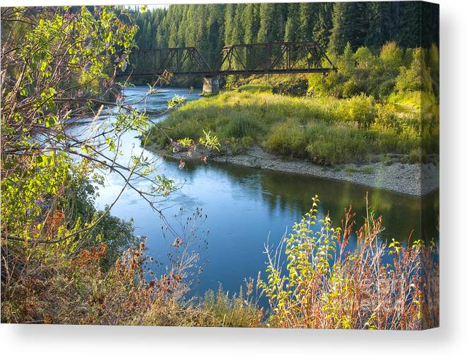 Idaho Canvas Print featuring the photograph St. Joe River by Idaho Scenic Images Linda Lantzy