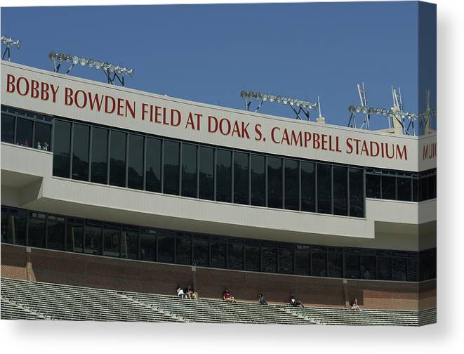Bobby Bowden Canvas Print featuring the photograph Stadium by Allen Simmons