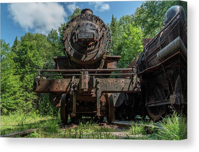 Abandoned Trains Canvas Print featuring the photograph Steel Will by Tony Pushard