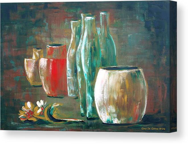 Still Canvas Print featuring the painting Still Life by Gina De Gorna