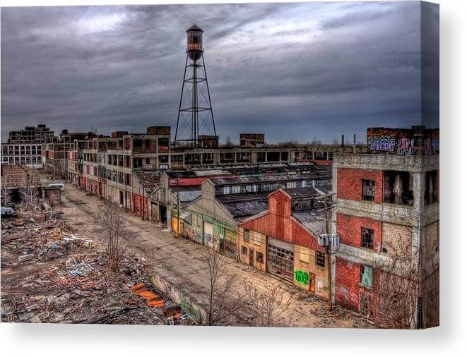 Detroit Canvas Print featuring the photograph Strange Beauty by Joshua Ball