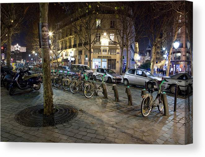 France Canvas Print featuring the photograph Streets At Saint-michel by Alexander Davydov