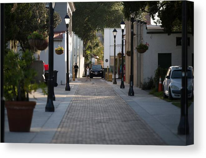 St.george Canvas Print featuring the photograph Streets Of St. Augustine by Eduardo Marquez