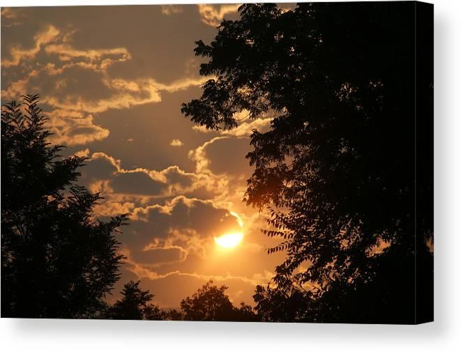 Sunset Canvas Print featuring the photograph Summer Sunset 2 by Liz Vernand