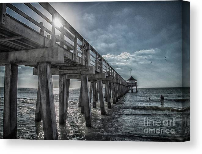 Sun Canvas Print featuring the photograph Sun And Fun In Naples Florida by Judy Hall-Folde