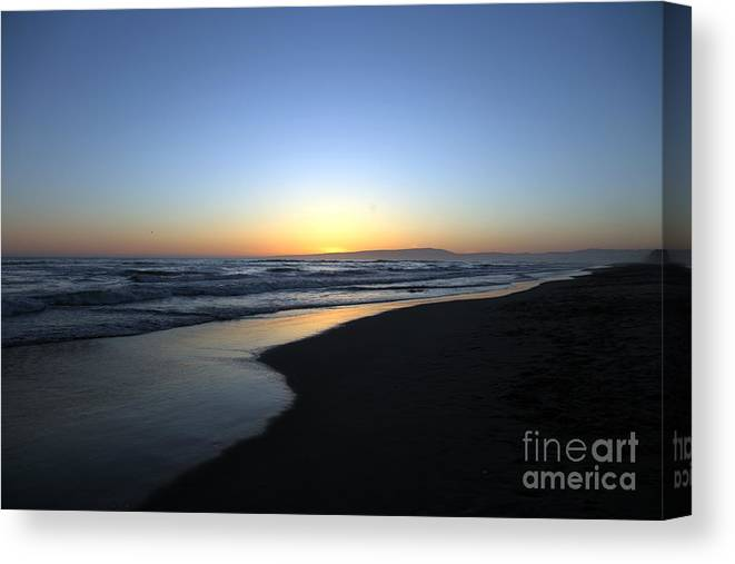 Beaches Canvas Print featuring the photograph Sunet Beach by Amanda Barcon